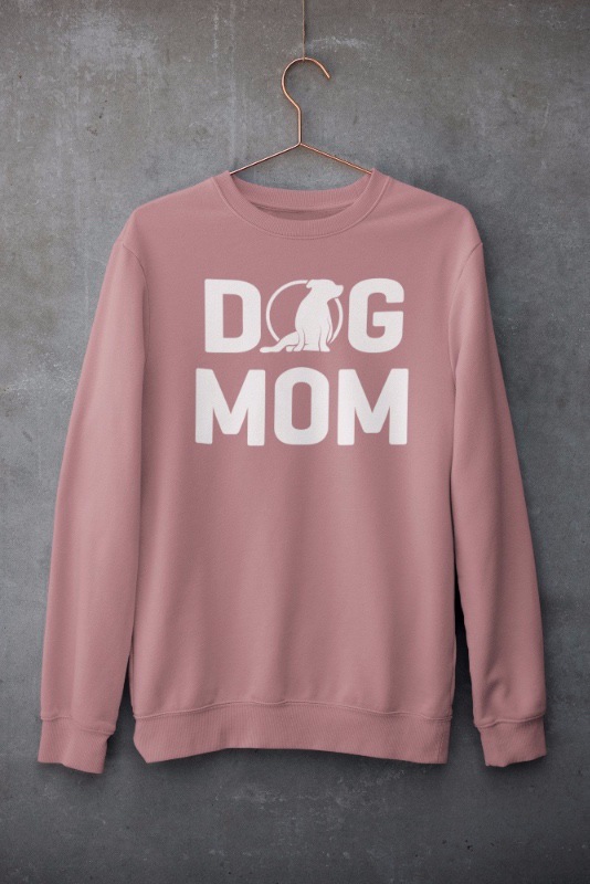 Ladies Dog Mom Crew (US Spelling)