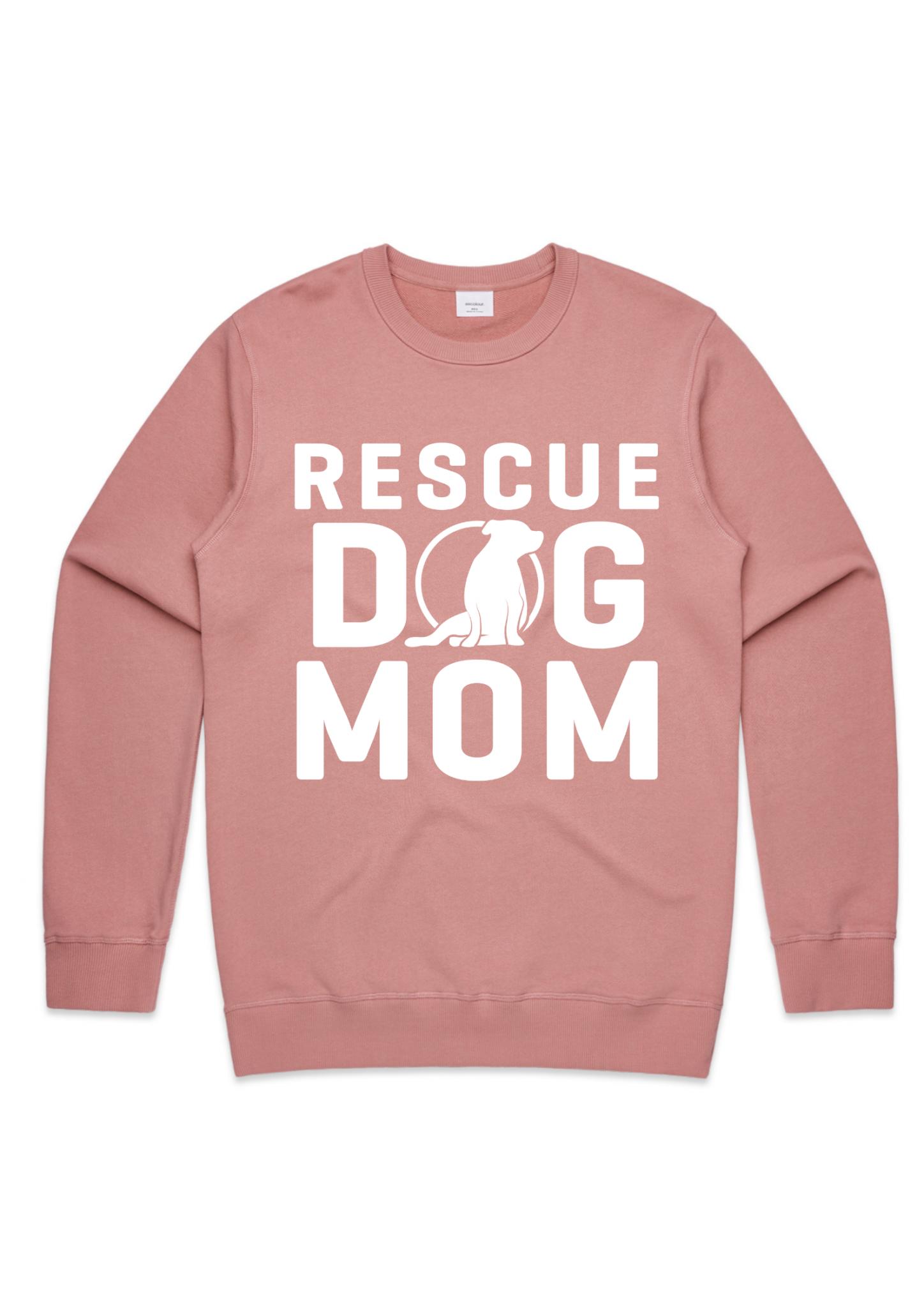 Ladies Rescue Dog Mom Crew (US Spelling)