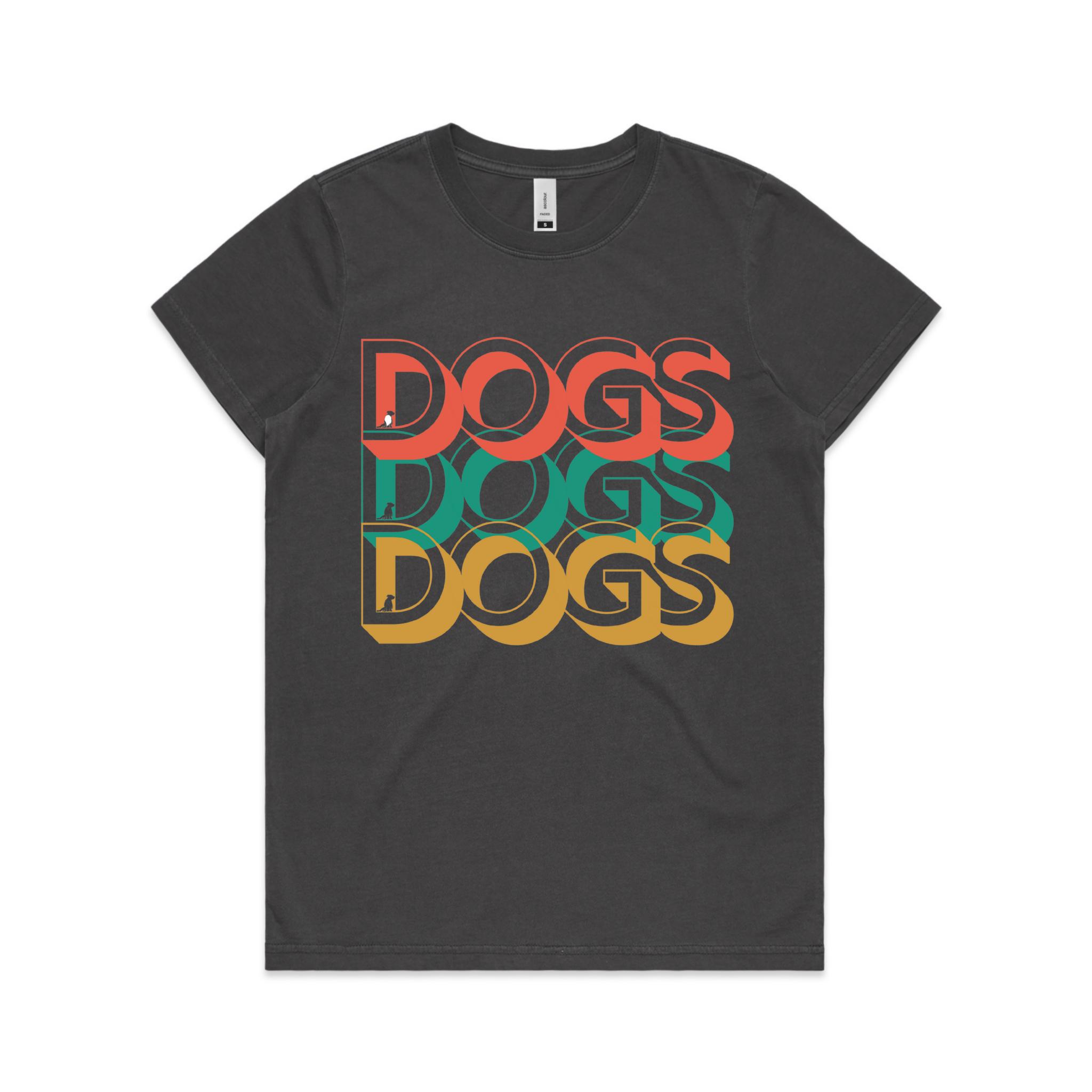 Ladies Retro DOGS Tee